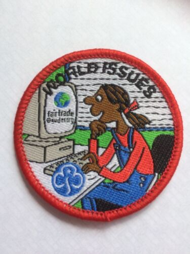 Guide /'world Issues/' Woven Interest Badge Vintage