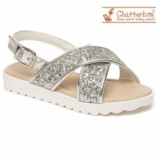 New Girls Infants Fancy Menorcan Spanish Sandals Summer Beach Party Shoes Size