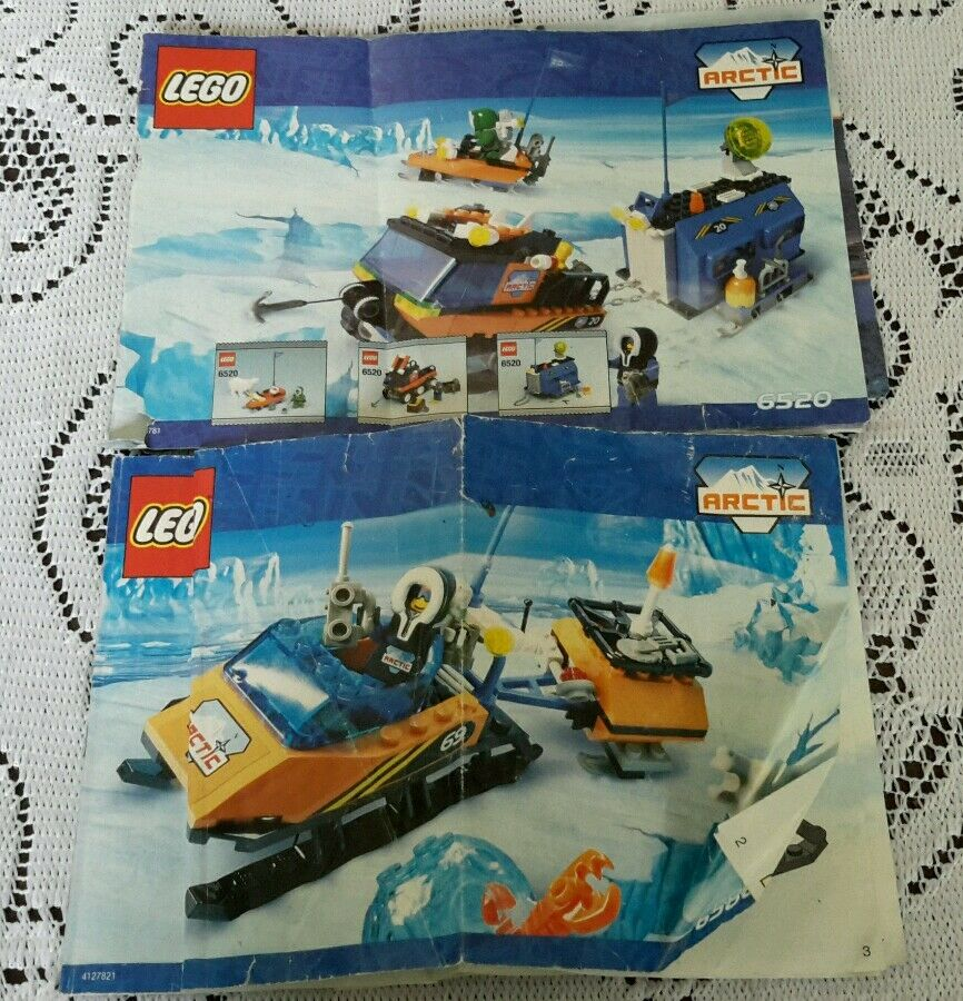 Legos Arctic   6520/6586 Mobile Outpost/Polarscout Instructions Manual Only