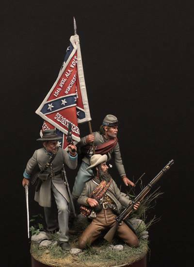 Beneito Confederate Vignette Little Round Top 1863 Vignette 54mm Unpainted kit