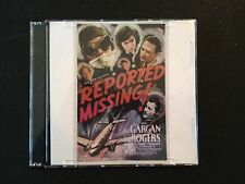 REPORTED MISSING Classic DVD 1937 William Gargan, Jean Rogers, Dick Purcel