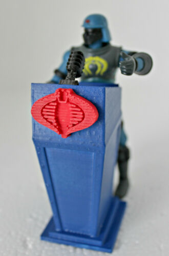 Free shipping! GI Joe Cobra Commander Serpentor Presidential Podium  Blue