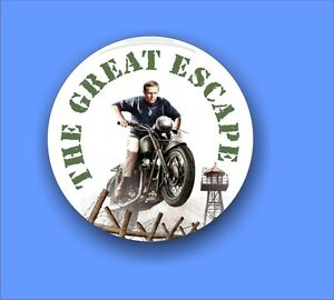 The-Great-Escape-Steve-McQueen-traditional-Button-Badge-58mm-diameter