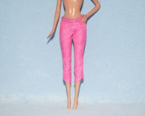 FROSTY Medium Pink Denim Style Capris Capri Jeans Pants Clothes for BARBIE