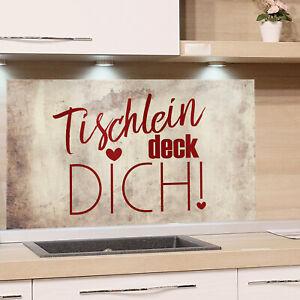 Details zu Spritzschutz Herd Küchenrückwand Sprüche braun Küche Spüle  Glasbild ESG