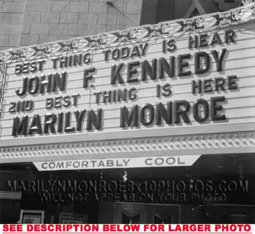 1 MARILYN MONROE JFK HONORS MARQUEE RARE 4x6 PHOTO