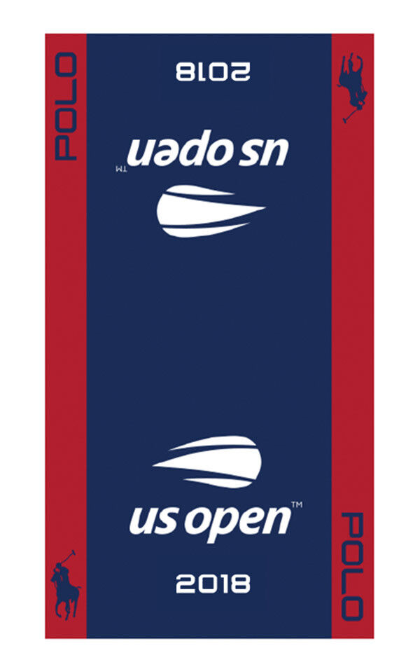 New 2018 US Open Men's Players official on court dated Towel POLO RL USTA Navy
