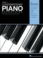 Contemporary Piano Repertoire Level 2 Sheet Music Rock Swing Blues 000220220