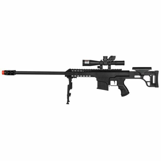 Returned Uk Arms P1082c Spring Powered Airsoft Bb Gun Sniper Rifle Black For Sale Online Ebay