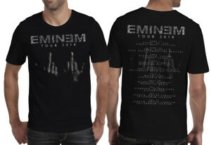 RéAliste Eminem-tour 2018 Unisexe T Shirt Uk Ue-revival Slim Shady Marshall Mathers-afficher Le Titre D'origine Exquis (En) Finition