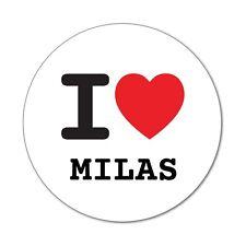 I love MILAS - Adesivo Decalcomania - 6cm