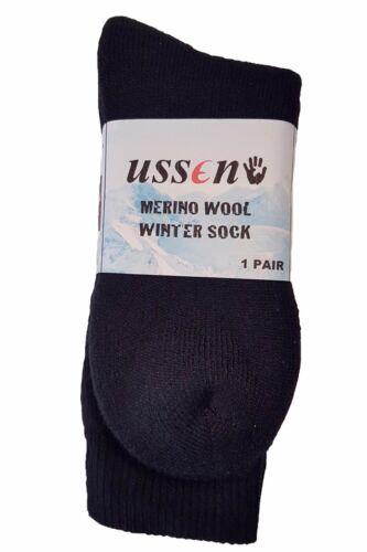 Ussen Sportswear Merino Wool Walking hiking Work Winter Sock