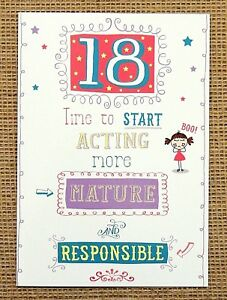 Image Is Loading Funny Humorous 18th Birthday Card Female Ladies