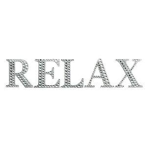 Relax Sign Bling Bedroom Bathroom Kitchen Door Wall Art Silver Diamante Letters Ebay