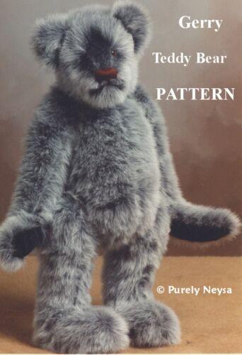 Mohair/Plush Gerry Teddy Bear PATTERN by Neysa A. Phillippi of Purely Neysa