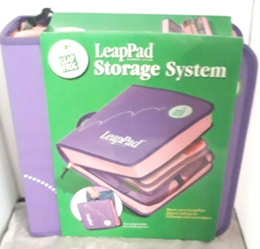 LEAP FROG LEAPPAD STORAGE SYSTEM PINK PURPLE