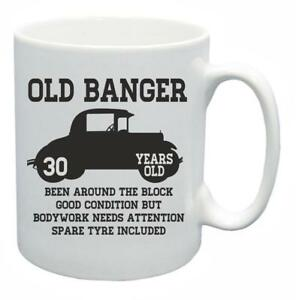 Image Is Loading 30th Novelty Birthday Gift Present Tea Mug Old