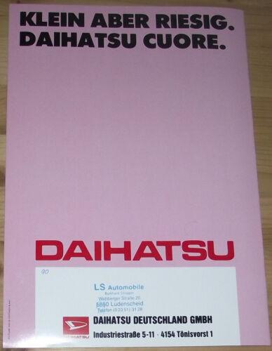 Prospetto DAIHATSU CUORE 1987