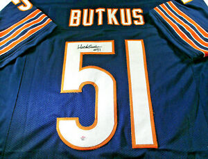 DICK-BUTKUS-NFL-HALL-OF-FAME-AUTOGRAPHED-CHICAGO-BEARS-CUSTOM-JERSEY-COA