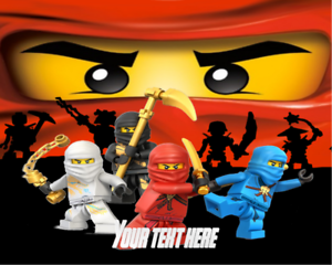 Image Is Loading Lego Ninjago Edible Icing Paper Birthday Cake