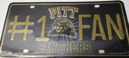 Pitt on top   #K10-2 Pittsburgh Panthers #1 Fan Metal License Plate