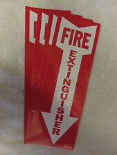 Lot Of 4 Self Adhesive Vinyl Fire Extinguisher Arrow Signs4 X 12 New
