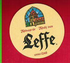 "2 4/"" LEFFE BEER COASTERS~ABBAYE DE ABDIJ VAN /""LEFFE/"" ANNO 1240 A PAIR"