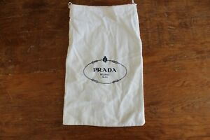 Prada-Drawstring-Flannel-Dust-Bag-Purse-Handbag-Shoe-Storage-Cover-13-034-x-8-034