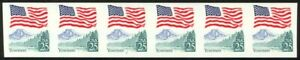 2280c-25c-Flag-Imperf-Plate-7-F-VF-NH-Strip-of-6