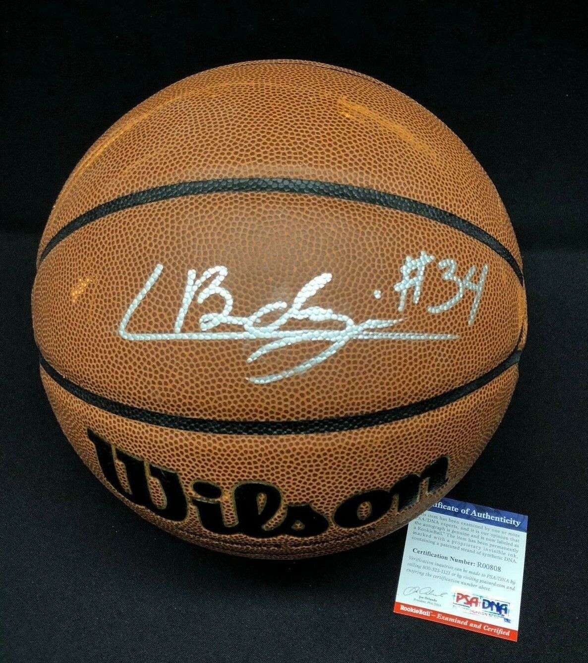 Chase Buddinger Signed Wilson NCAA Basketball *Arizona Wildcats PSA R00808