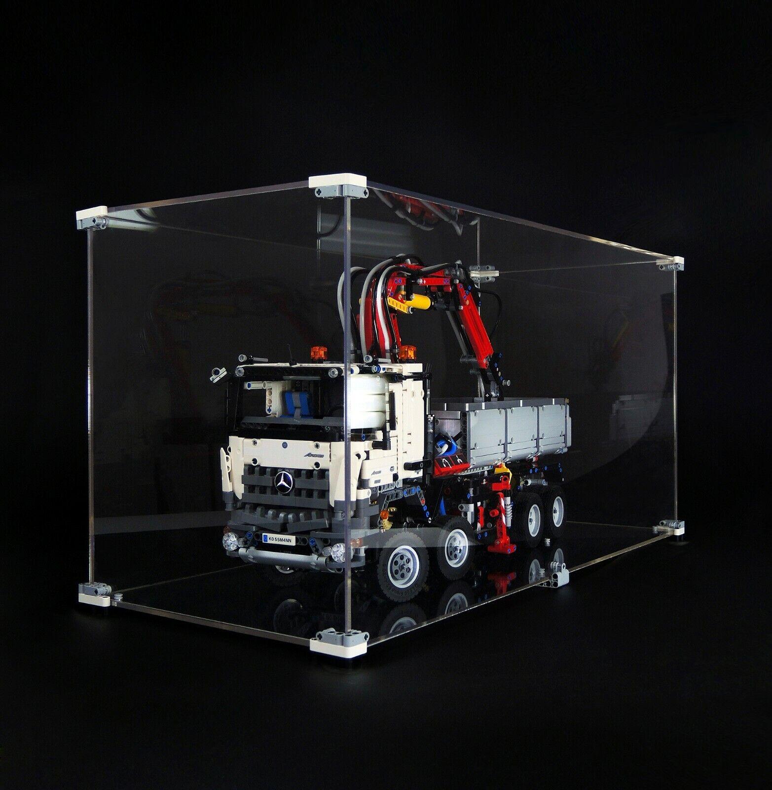 OLEGABOX 4mm Display Case for Lego 42043 Mercedes Arocs