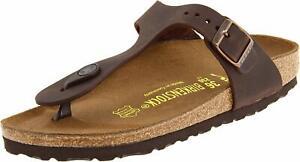 Brand-New-Authentic-Birkenstock-Gizeh-BS-Habana-Brown-Women-039-s-Thong-Sandals