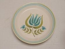 6 Franciscan stoneware Tulip Time 1963-73 lot of 6 DINNER PLATES aqua