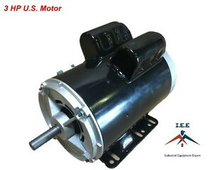 3 hp 3450 rpm electric motor compressor duty 56 frame 1 for 1 5 hp 3 phase electric motor