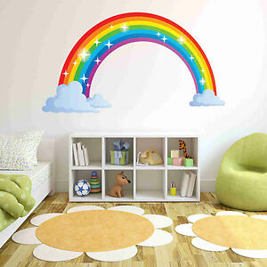 Image Is Loading Sparkling Rainbow Wall Decal Wall Sticker Home Decor