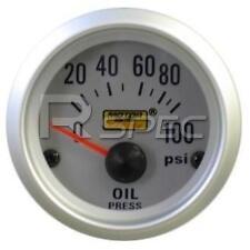 Car 52mm Silver Faced Oil Pressure Gauge PSI inc sender