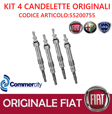 KIT 4 CANDELETTE ORIGINALI FIAT 55200755