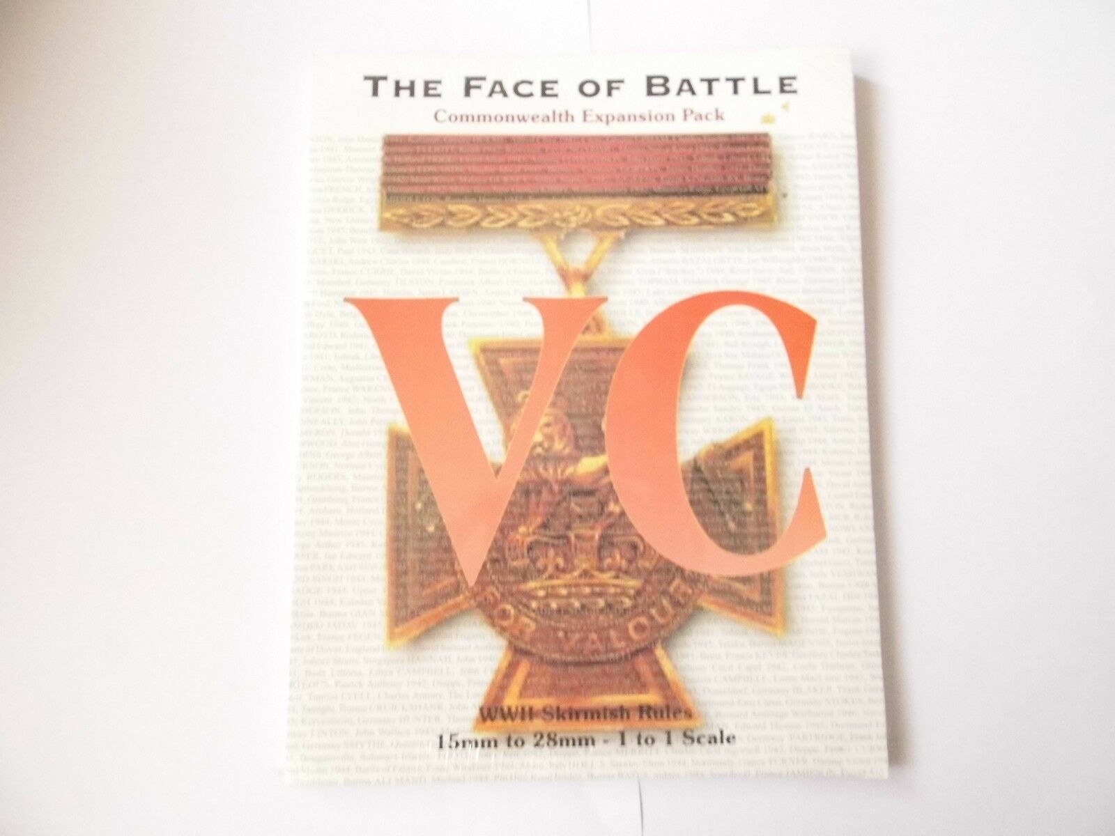 THE FACE OF BATTLE V C - WAR GAMES RULES - NEW SEALED