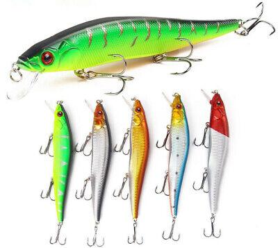 5PCS Fishing Lures Big 18g Long Mouth Minnow Wobblers Tackle Crankbaits Hard Bai