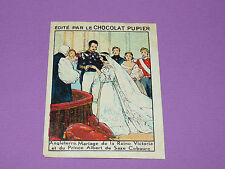 CHROMO CHOCOLAT PUPIER EUROPE 1932 ANGLETERRE MARIAGE VICTORIA PRINCE ALBERT