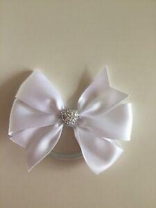 "Wedding Flower Girls School Small 3.5"" Girls Red Hair Bow Bobble /& Sparkly Heart"