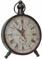 French Country Vintage Antique Style Standing Mantel Shelf Clock