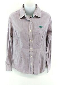 Superdry-Chemise-Femme-M-Medium-Violet-Rayures-Blanches-Coton
