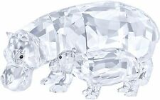 HIPPO MOTHER WITH BABY CLEAR CRYSTAL SET HIPPOS 2016 SWAROVSKI #5135920