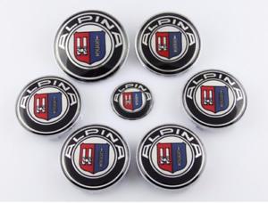 7pcs-Alpina-Hood-Trunk-Steering-Wheel-Center-Caps-Hub-Caps-Emblem-Badge-Sticker