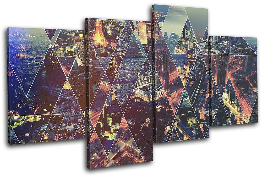 Abstract Capitals Typography City rojo MULTI LONA pa rojo City  arte Foto impresion 4cfbbf