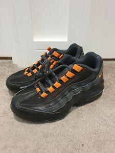 Nike-Original-Air-Max-95-Womens-Ladies-Black-Low-Top-Running-Trainers-Size-3