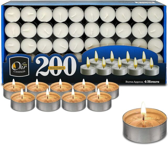 Quantity Variations Tea Light Candles 4 hours burn White Unscented Tealights