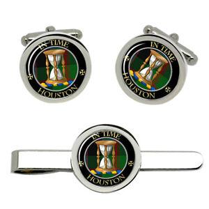 Houston-Scottish-Clan-Cufflinks-and-Tie-Clip-Set