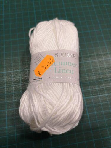 sirdar summer linen 50g balls all colours available linen /& lyocell blend